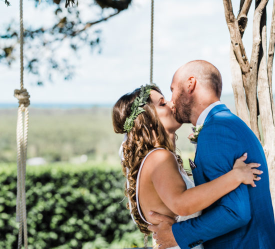 Byron Bay Celebrant- you may kiss the bride!