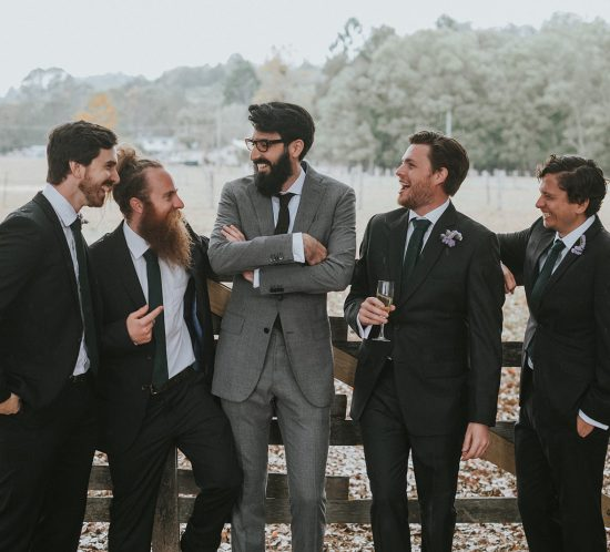 Best man and friends of the groom
